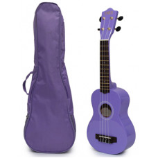 Lilac Soprano Ukulele and Bag Package - EUB-7000