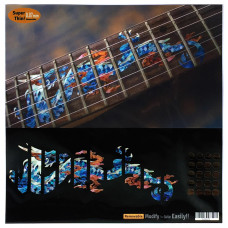 "Fret marker decals for Guitar - Dragon in Blue ""Abalone"" - JIS-100"