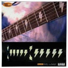 "Fret marker decals for Guitar - AC/DC Bolt in Pearly White ""Abalone"" - JIS-101"
