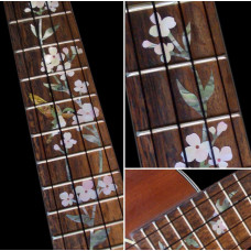 Tree of Life with Hummingbird fretboard inlay decal for Concert ukulele - JIS-43