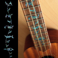 Tree of Life Blue Abalone fretboard inlay decal for Soprano ukulele - JIS-48