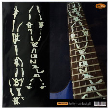 Fret marker decals for Guitar - Barbed Wire Pearly