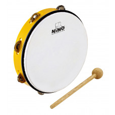 "NINO 10"" Tambourine - Yellow"